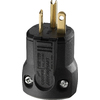 Cooper Wiring Devices 20-Amp 250-Volt Black 3-Wire Grounding Plug