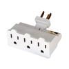Cooper Wiring Devices Single-to-Triple White 3-Wire Grounding Adapter