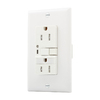 Cooper Wiring Devices 125-Volt 15-Amp Cooper Wiring Devices White Decorator GFCI Electrical Outlet