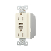 Cooper Wiring Devices 125-Volt 15-Amp Almond Decorator Duplex Electrical Outlet
