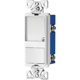 Eaton 1-Switch 15-Amp Single Pole White Indoor Rocker Light Switch