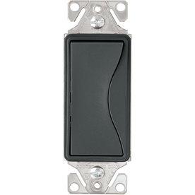 Eaton 15-Amp Aspire Silver Granite 3-Way Decorator Light Switch