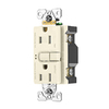 Eaton Aspire 15-Amp 125-Volt Desert Sand Indoor GFCI Decorator Wall Outlet