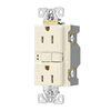 Eaton 3-Pack 15-Amp 125-Volt Light Almond Indoor GFCI Decorator Wall Outlets