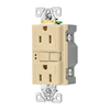 Eaton 3-Pack 15-Amp 125-Volt Ivory Indoor GFCI Decorator Wall Outlets