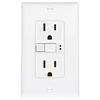 Eaton 15-Amp 125-Volt White Indoor GFCI Decorator Wall Outlet