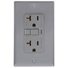 Cooper Wiring Devices 125-Volt 20-Amp Gray Decorator GFCI Electrical Outlet