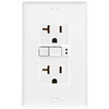 Cooper Wiring Devices 125-Volt 20-Amp Almond Decorator GFCI Electrical Outlet