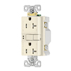 Cooper Wiring Devices 125-Volt 20-Amp Light Almond Decorator GFCI Electrical Outlet
