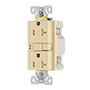 Eaton 20-Amp 125-Volt Ivory Indoor GFCI Decorator Wall Outlet