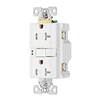 Eaton 20-Amp 125-Volt White Indoor GFCI Decorator Wall Outlet