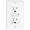 Eaton 15-Amp 125-Volt White Outdoor GFCI Decorator Wall Outlet