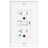 Eaton 20-Amp 125-Volt White Outdoor GFCI Decorator Wall Outlet