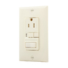 Cooper Wiring Devices 125-Volt 15-Amp Almond Decorator GFCI Electrical Outlet