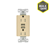 Eaton 15-Amp 125-Volt Ivory Indoor Decorator Wall Outlet/USB