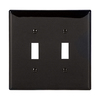 Eaton 2-Gang Black Double Toggle Wall Plate