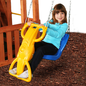 Swing-N-Slide Wind Rider Blue and Yellow Swing