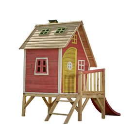 playhouse plans with slide and swings