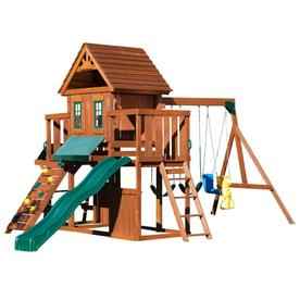 Swing-N-Slide Winchester Complete Ready-to-Assemble Kit Wood Playset with Swings