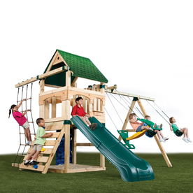 double small image toddler heavy dual trampoline swing n set loading playsets is s duty slide itm