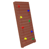 Swing-N-Slide Brown Climbing Wall