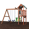 Swing-N-Slide Glenwood Complete Ready-to-Assemble Kit without Slide Wood Playset with Swings