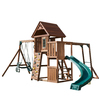Swing-N-Slide Cedar Brook Wood Complete Ready-to-Assemble Kit Residential Wood Playset with Swings