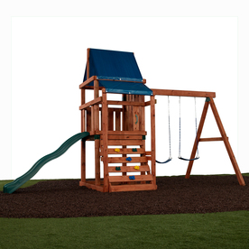 Swing-N-Slide Asheville Ready-to-Assemble Kit Residential Wood Playset with Swings