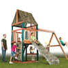 Swing-N-Slide Huntsman Wood Complete Ready-to-Assemble Kit Residential Wood Playset with Swings