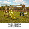 Swing-N-Slide Pioneer Kit Residential Wood Playset with Swings