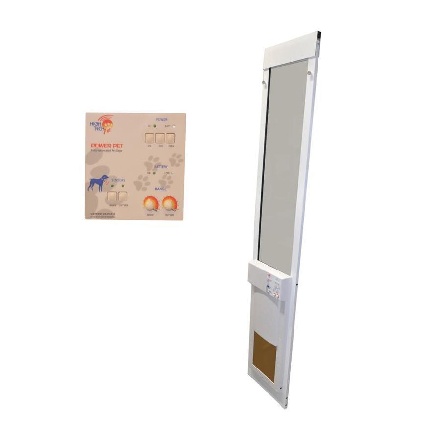 shop high tech pet medium white composite sliding pet door