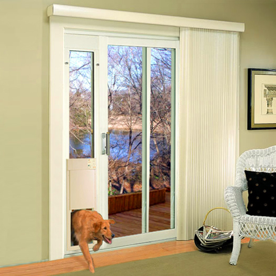 X Large Automatic White Composite Sliding Pet Door