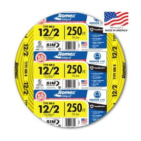 Southwire Romex SIMpull 250-ft 12-2 Non-Metallic Wire (By-the-Roll)