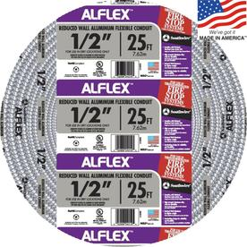 Southwire Metal Flex 25-ft Conduit (Common: 1/2-in; Actual: 0.5-in)