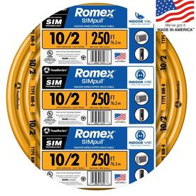 Southwire Romex SIMpull 250-ft 10-2 Non-Metallic Wire (By-the-Roll)