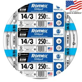 Romex SIMpull 250-ft 14-3 Non-Metallic Wire (By-the-Roll)