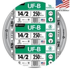 Southwire 250-ft 14-2 Underground Feeder Wire (By-the-Roll)