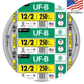 Southwire 250-ft 12-2 UF Wire (By-the-Roll)