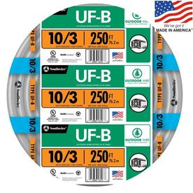 Southwire 250-ft 10-3 UF Wire (By-the-Roll)