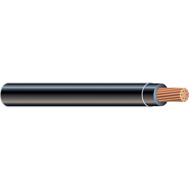 2 AWG Stranded Black Copper THHN Wire (By-the-Foot)