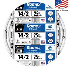 Romex SIMpull 25-ft 14-2 Non-Metallic Wire (By-The-Roll)