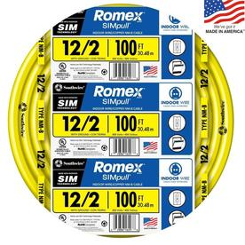 Southwire Romex SIMpull 100-ft 12-2 Non-Metallic Wire (By-The-Roll)