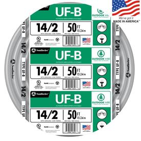 50-ft 14-2 Underground Feeder Wire (By-the-Roll)