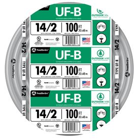 Southwire 100-ft 14-2 Outdoor UF Underground Feeder Wire