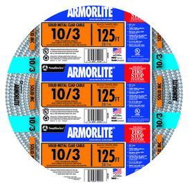 Armorlite 125-ft 10-3 Solid Aluminum MC Cable