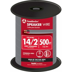 500-ft 14-AWG to 2 In-Wall Speaker Wire (By-The-Roll)