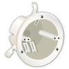 18 cu in Ceiling Plastic Electrical Box