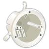 18-cu in Plastic Ceiling Electrical Box