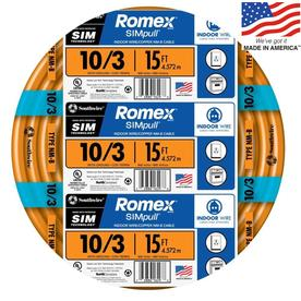 Southwire Romex SIMpull 15-ft 10-3 Non-Metallic Wire (By-the-Roll)