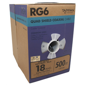 shop 500 ft 18 awg rg6 shield black coax cable at lowes